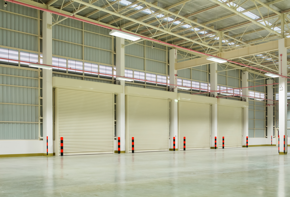 Commercial Garage Doors In A Warehouse